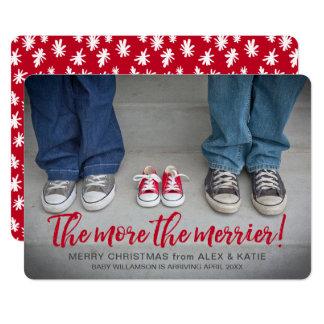Tarjeta Más los Navidad más Felices del embarazo