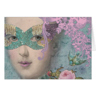 Tarjeta Mascarada de Marie AntoinetteFrench