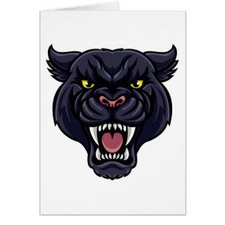 Tarjeta Mascota de la pantera negra