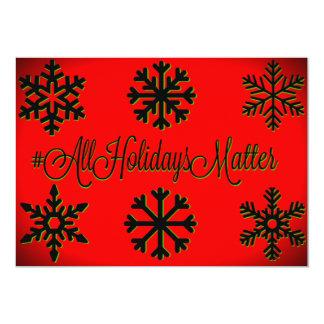 Tarjeta Materia de los días de fiesta del #All (rojo,