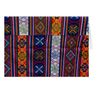 Tarjeta Materia textil butanesa