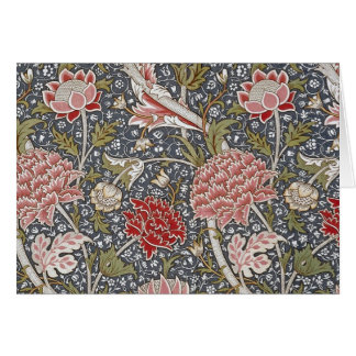 Tarjeta Materia textil de Cray de William Morris