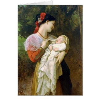 Tarjeta maternal del día de madre de la admiración