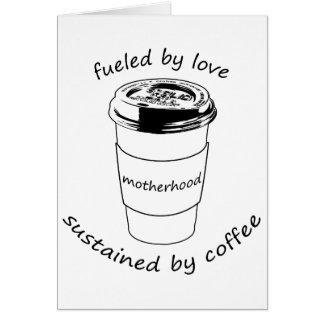 Tarjeta Maternidad (Notecard en blanco): Amor y café