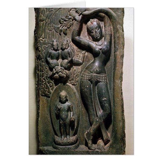 Tarjeta Maya de la reina que da a luz al Buda futuro