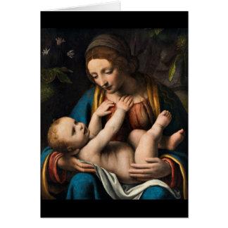 Tarjeta MED Kristusbarnet de Madonna