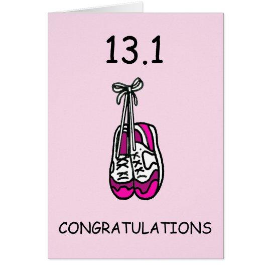 Tarjeta Media señora del maratón, enhorabuena