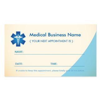 Tarjeta médica de la cita - caduceo médico del tarjetas de visita