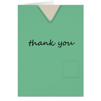 Tarjeta Médico friega al doctor Light-green Thank You de