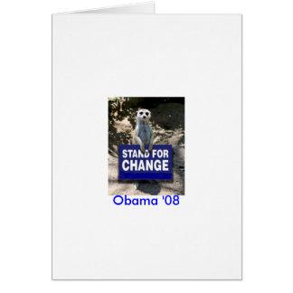 Tarjeta Meerkat 4 Obama
