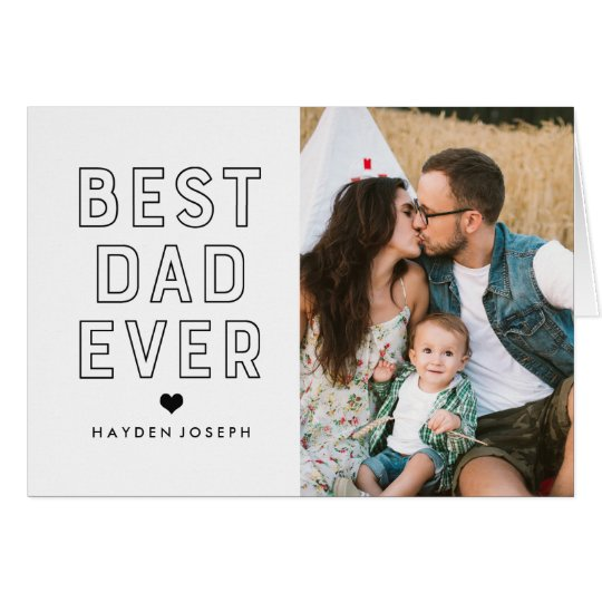 Tarjeta Mejor foto moderna del día de padre del papá el