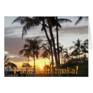 Tarjeta ¡Mele Kalikimaka!