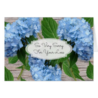 Tarjeta Mensaje azul rústico de la condolencia de los