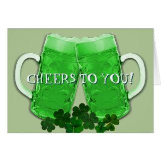 Tarjeta Mensaje irlandés del cumpleaños de la cerveza