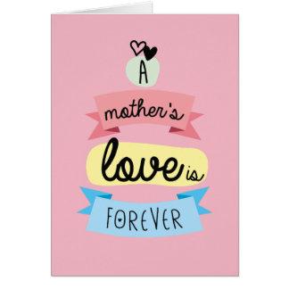 Tarjeta mensaje para mama