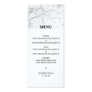 Tarjeta Menú de mármol moderno del boda