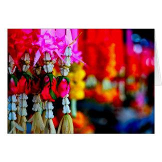 Tarjeta Mercado de la flor, Chiang Mai