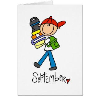 Tarjeta Mes de septiembre