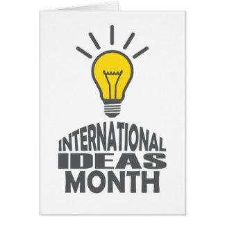 Tarjeta Mes internacional de las ideas - día del aprecio