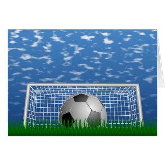 Tarjeta Meta del fútbol