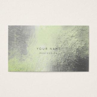Tarjeta metálica de la cita de la verde menta de