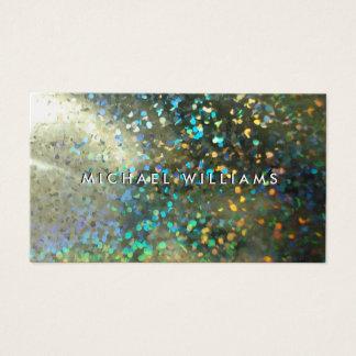 Tarjeta metálico con brillos holograma perla