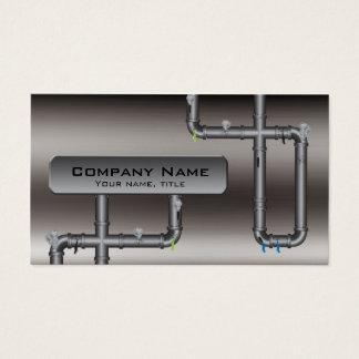 Tarjeta metalizado del perfil del fontanero del