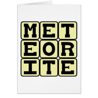 Tarjeta Meteorito, ruina de espacio