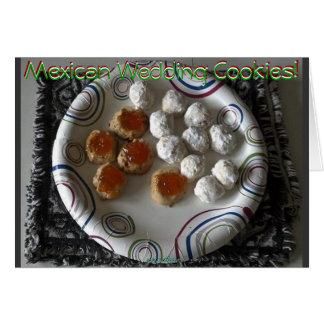 Tarjeta mexicana de las galletas del boda