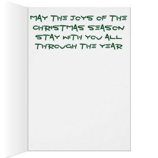 Tarjeta mezclada brillante del árbol de navidad