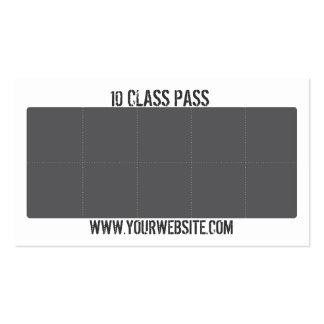 Tarjeta mezclada del paso de la clase de la tarjet plantilla de tarjeta de visita
