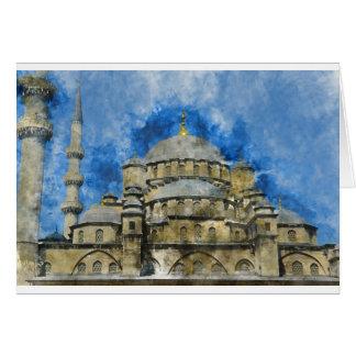 Tarjeta Mezquita azul en Estambul Turquía