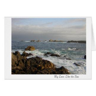 Tarjeta Mi amor: Como el mar