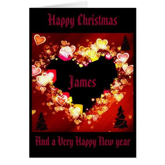 "Tarjeta ""Mi amor es este ardiendo navidad """