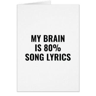 Tarjeta Mi cerebro es letras de la canción del 80 por
