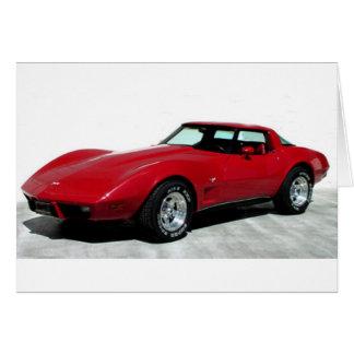 Tarjeta Mi Corvette de 1979 rojos