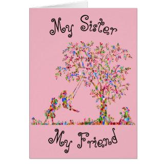 Tarjeta Mi hermana, mi amigo