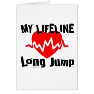 Tarjeta Mi línea de vida salto de longitud se divierte
