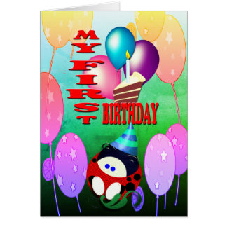 Tarjeta Mi primer cumpleaños