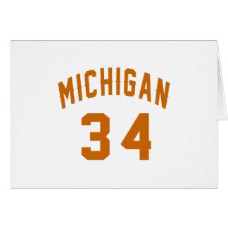 Tarjeta Michigan 34 diseños del cumpleaños