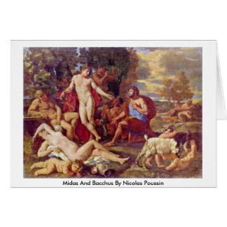Tarjeta Midas y Bacchus de Nicolás Poussin