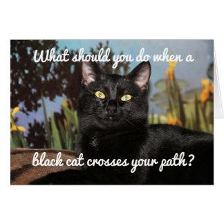 Tarjeta Miedo de gatos negros