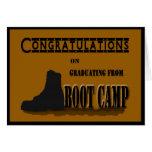 Tarjeta militar de la graduación de Boot Camp
