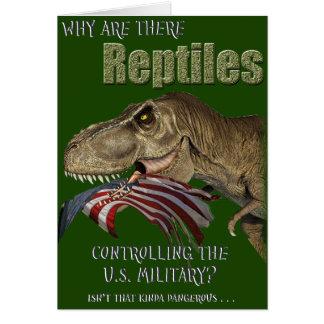 Tarjeta Militares controlados del reptil