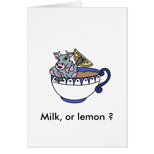 Tarjeta Milk, or lemon ?