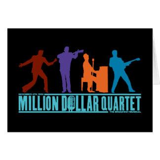 Tarjeta Millón de cuartetos del dólar en etapa