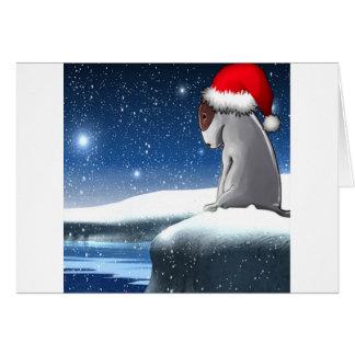 Tarjeta Milo del navidad (el perrito de bull terrier)