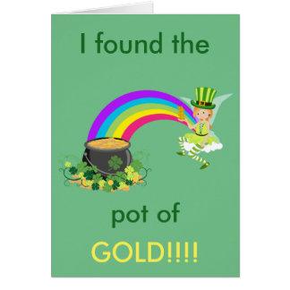 Tarjeta Mina de oro de St Patrick