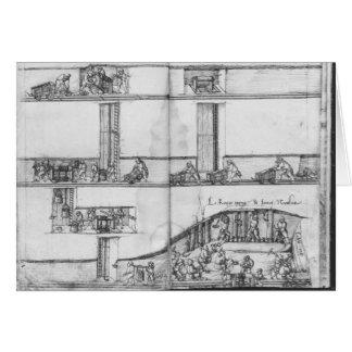 Tarjeta Mina de plata de las Croix-aux.-Minas del La,