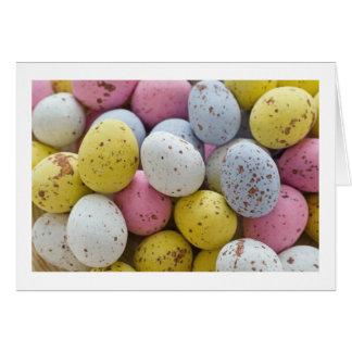 Tarjeta mini huevos de chocolate